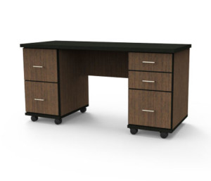 Jackson Desk with File and Regular Drawers
